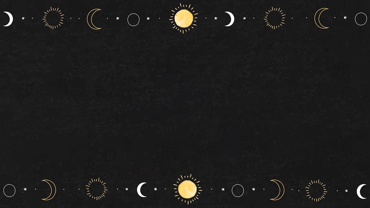 Blank sun and moon elements mockup vector