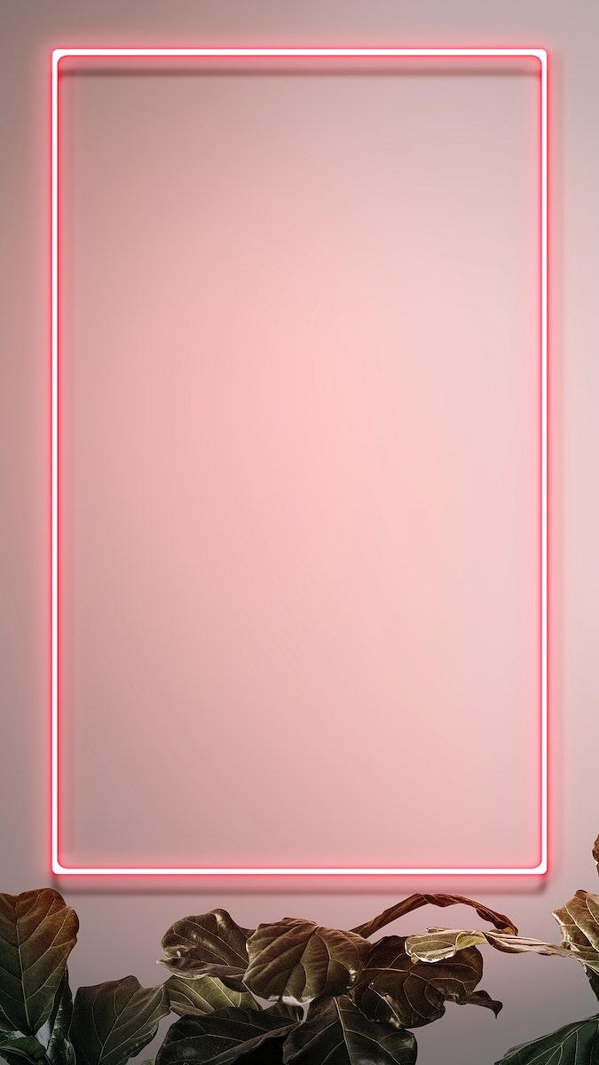 Tropical pink neon lights phone screen wallpaper