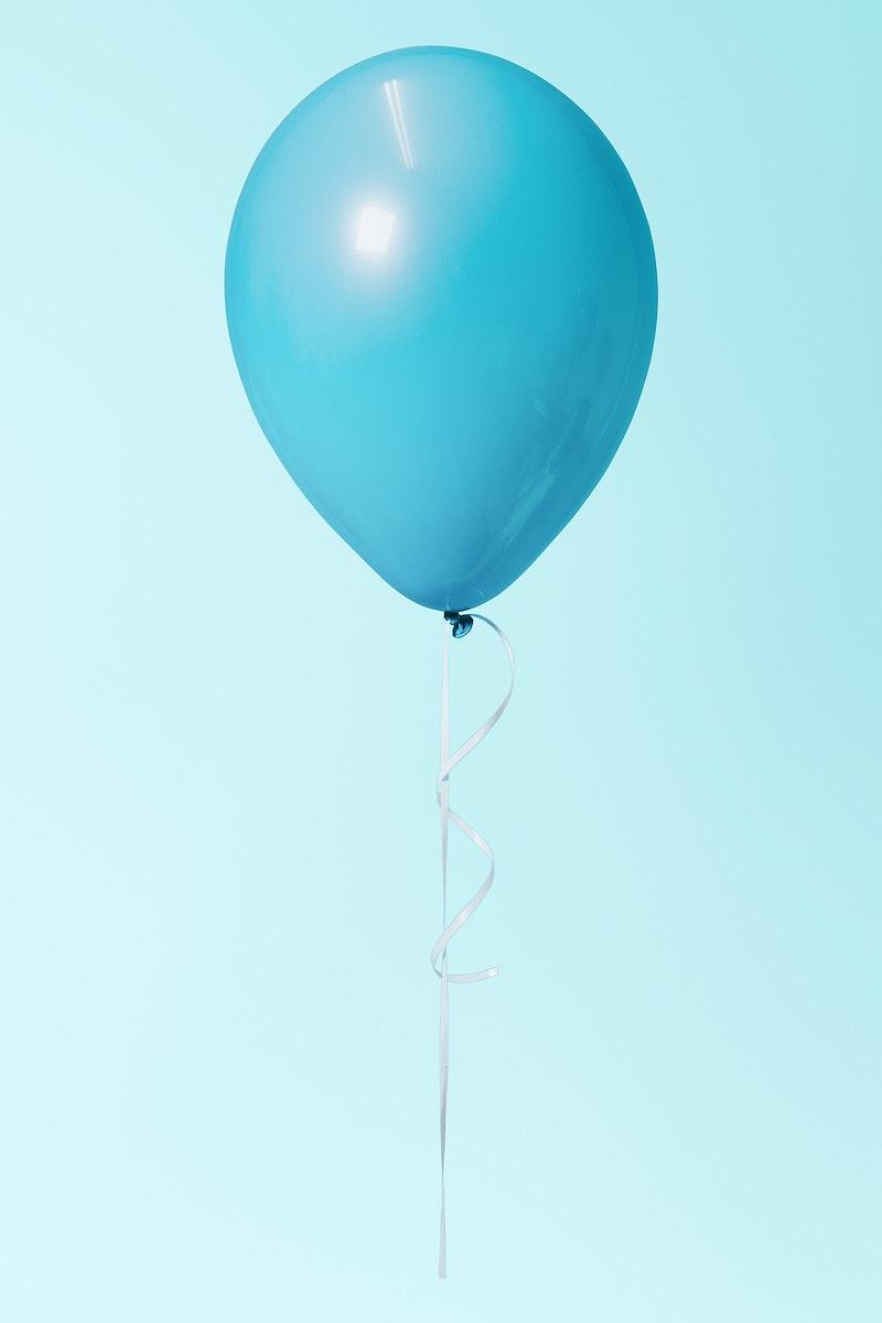 Pastel blue single floating balloon