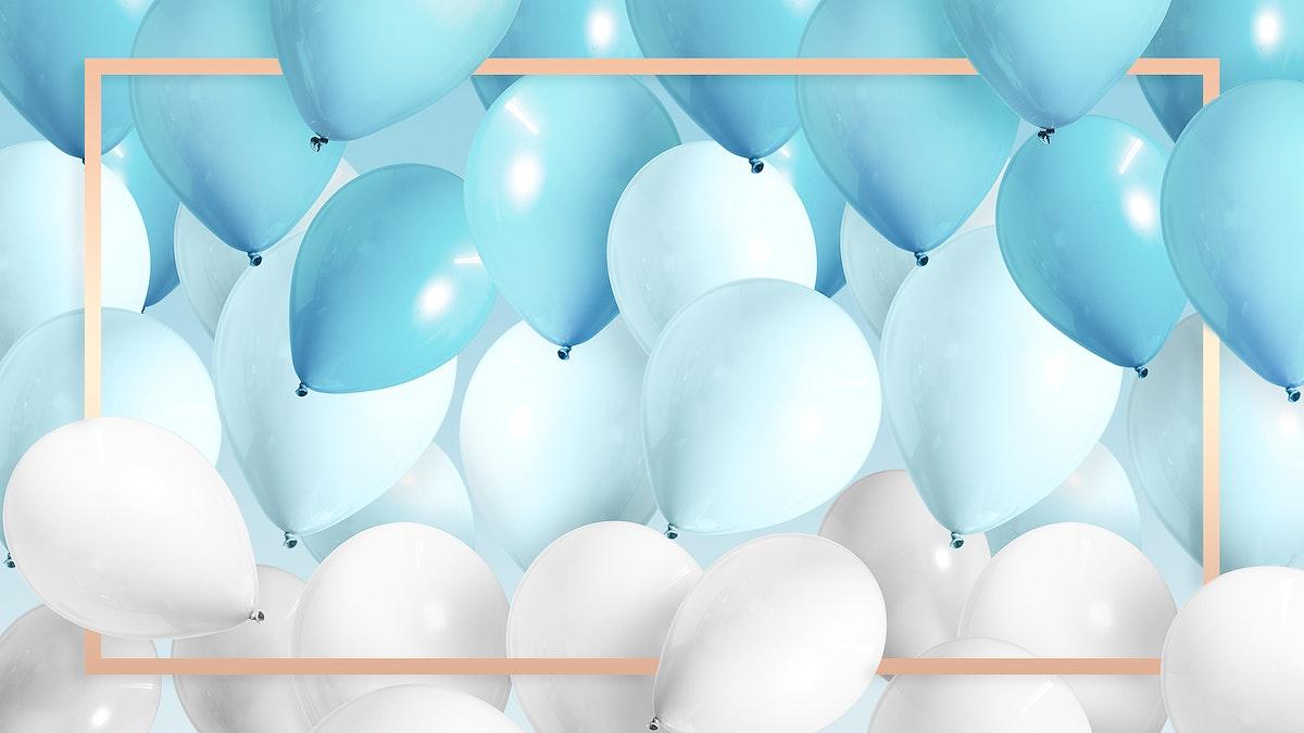 Golden rectangle balloons frame design