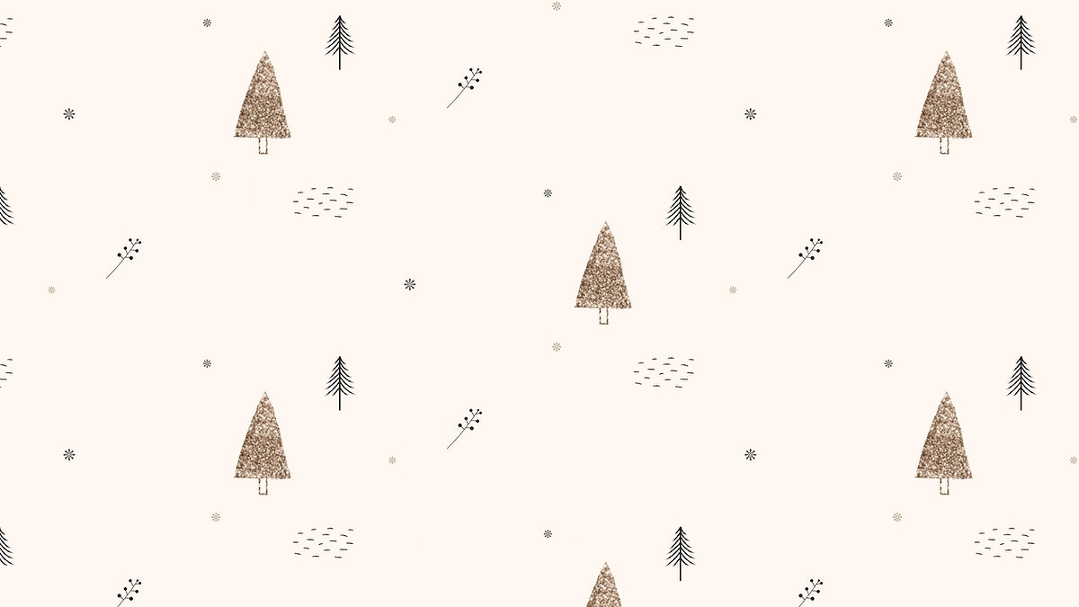 Christmas seamless pattern beige background vector