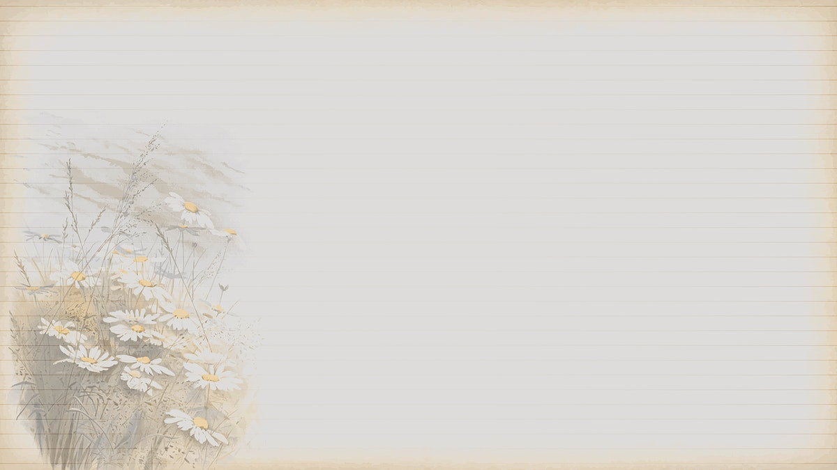 Daisy patterned background template vector