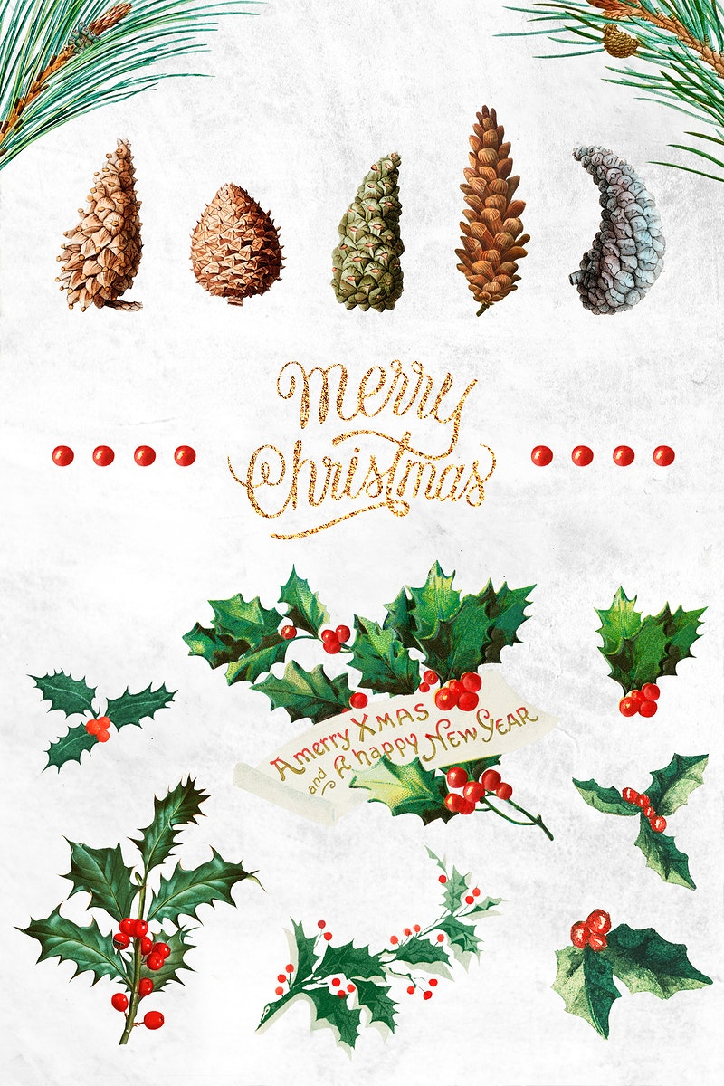 Festive merry Christmas design collection