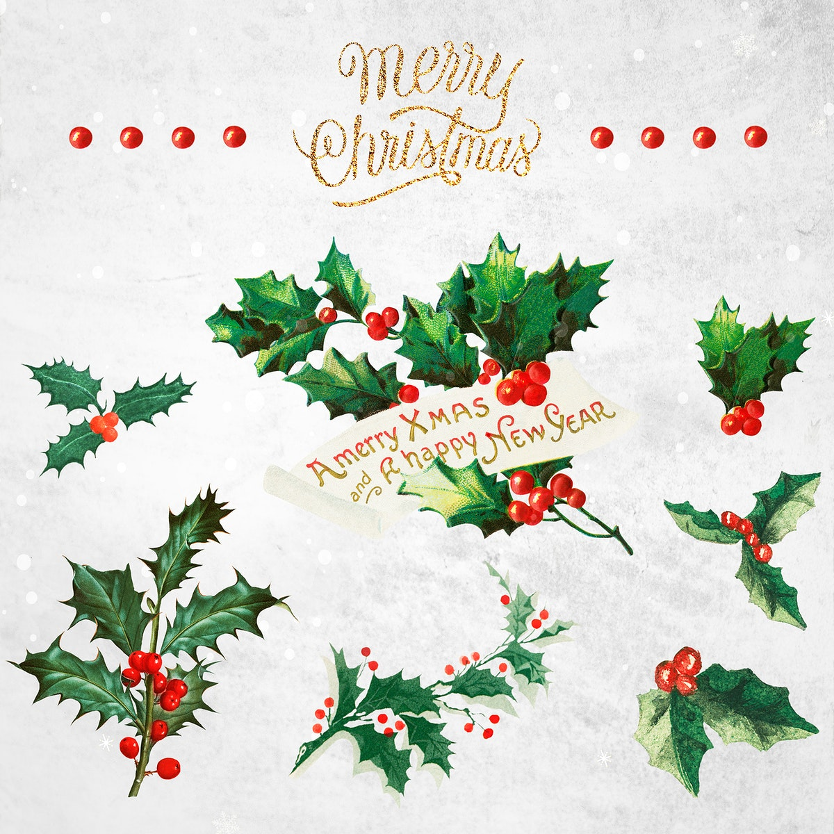 Festive merry Christmas social ads template collection
