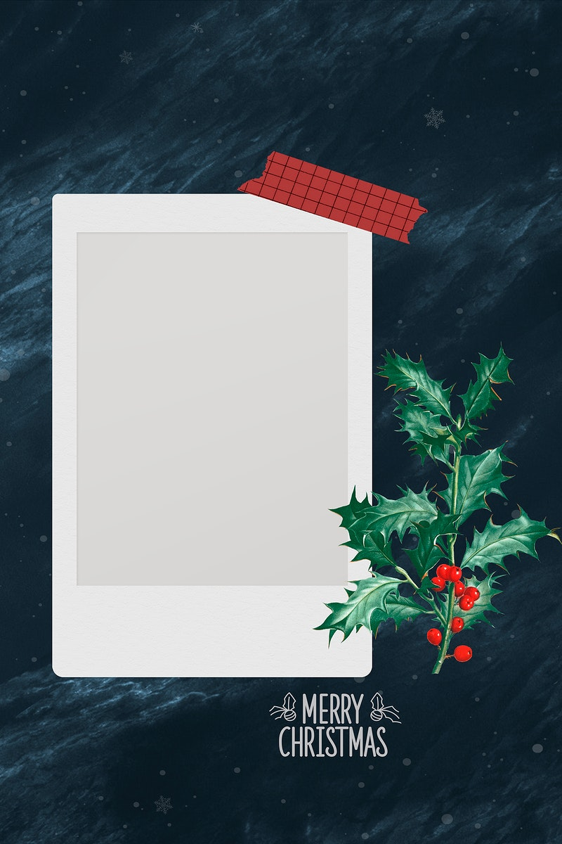Festive blank Christmas film decor