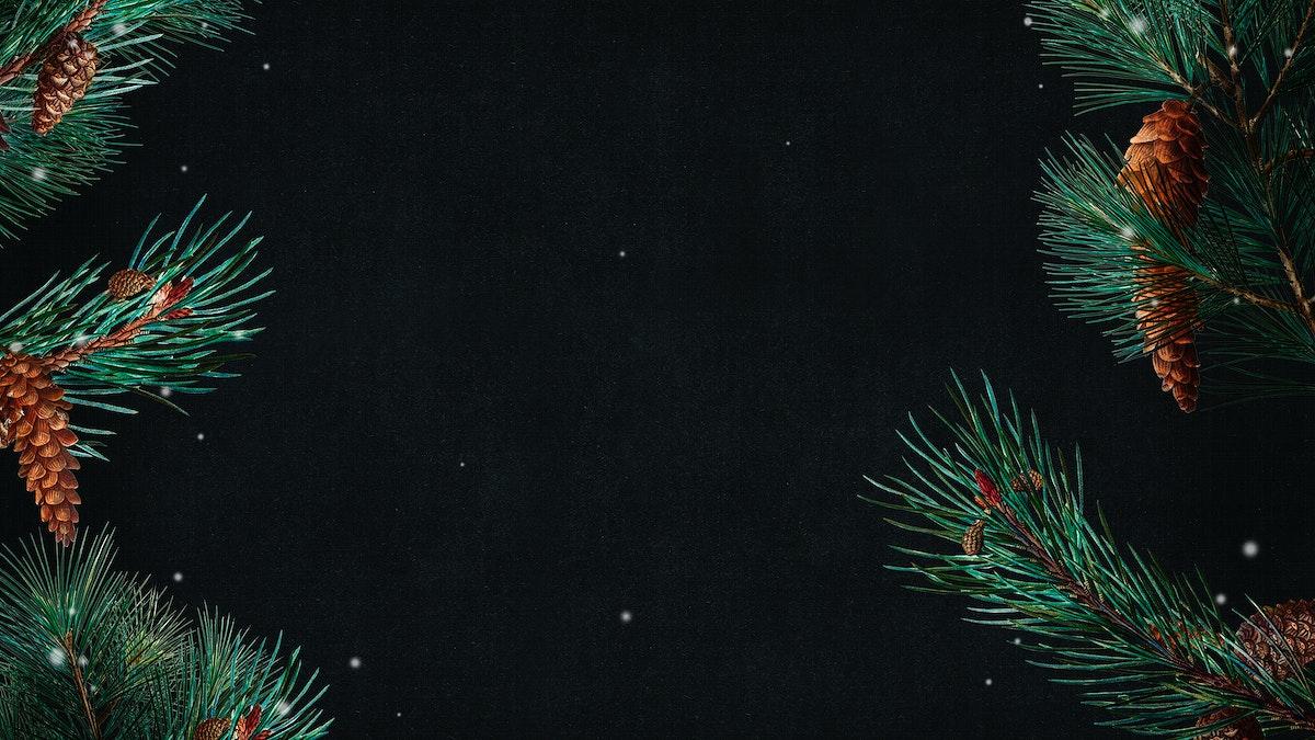 Blank festive Christmas frame design background