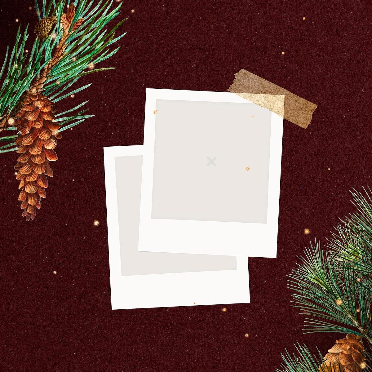 Festive blank Christmas social ads template