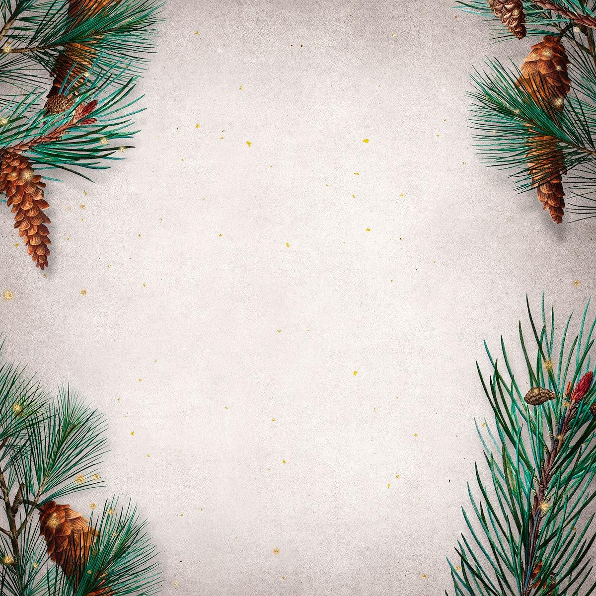 Blank festive Christmas social ads template
