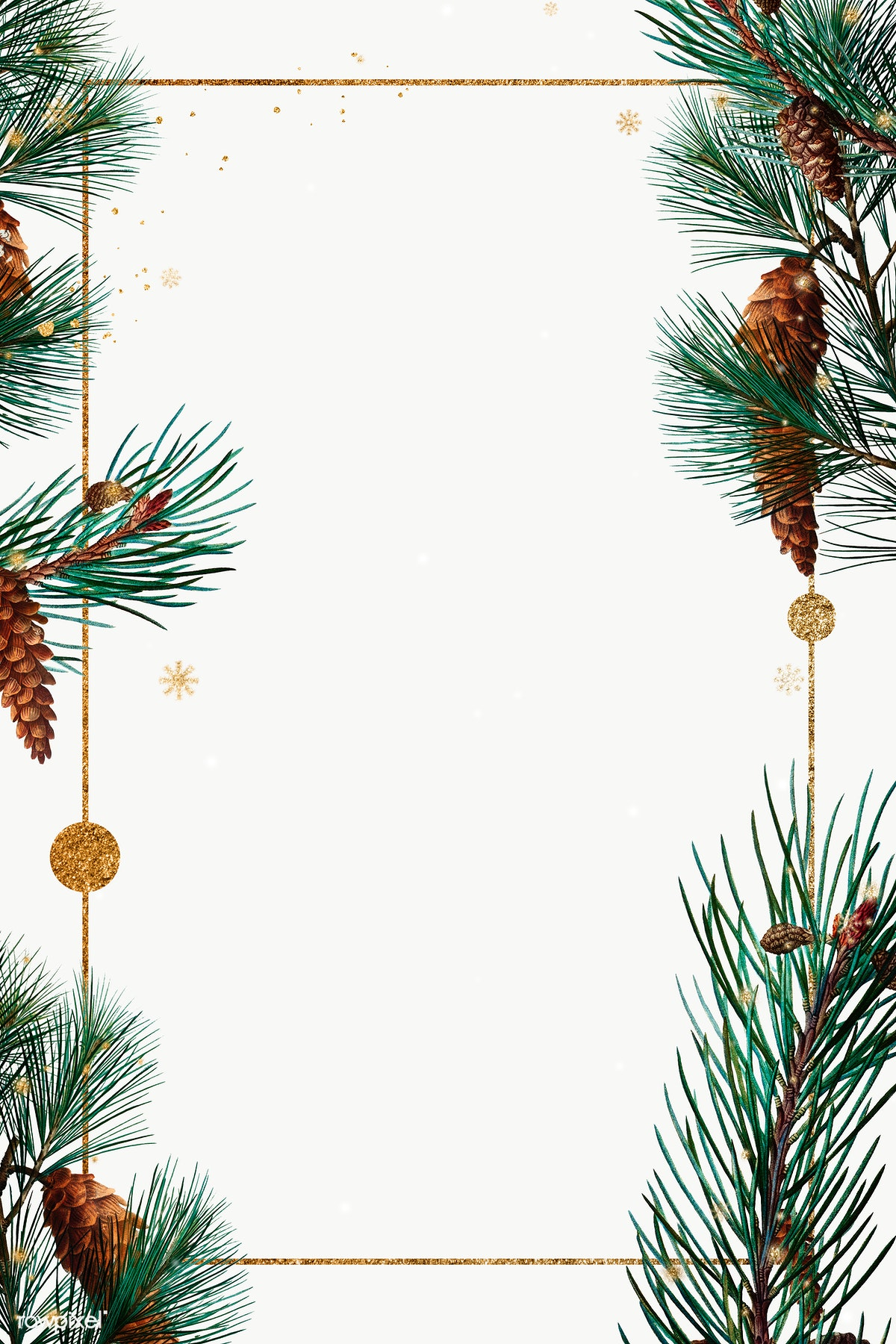 Christmas Frame.Download Premium Image Of Golden Rectangle Christmas Frame Design 1228811