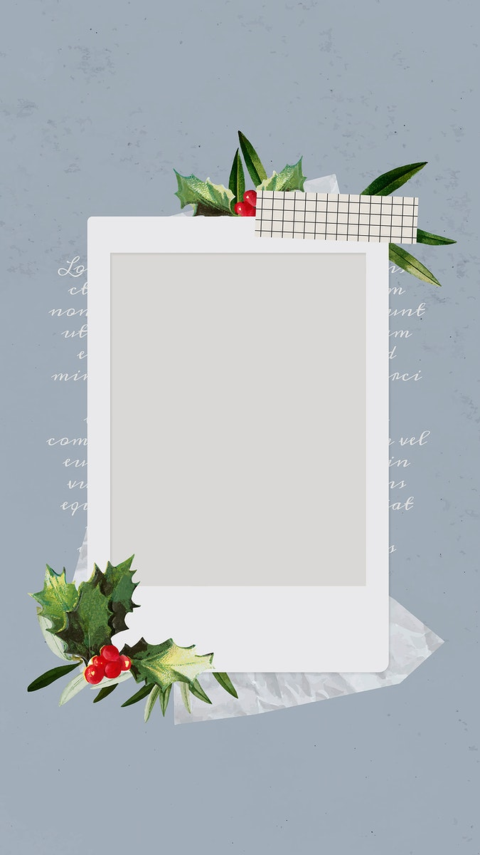 Christmas decorated instant photo frame mobile phone wallpaper