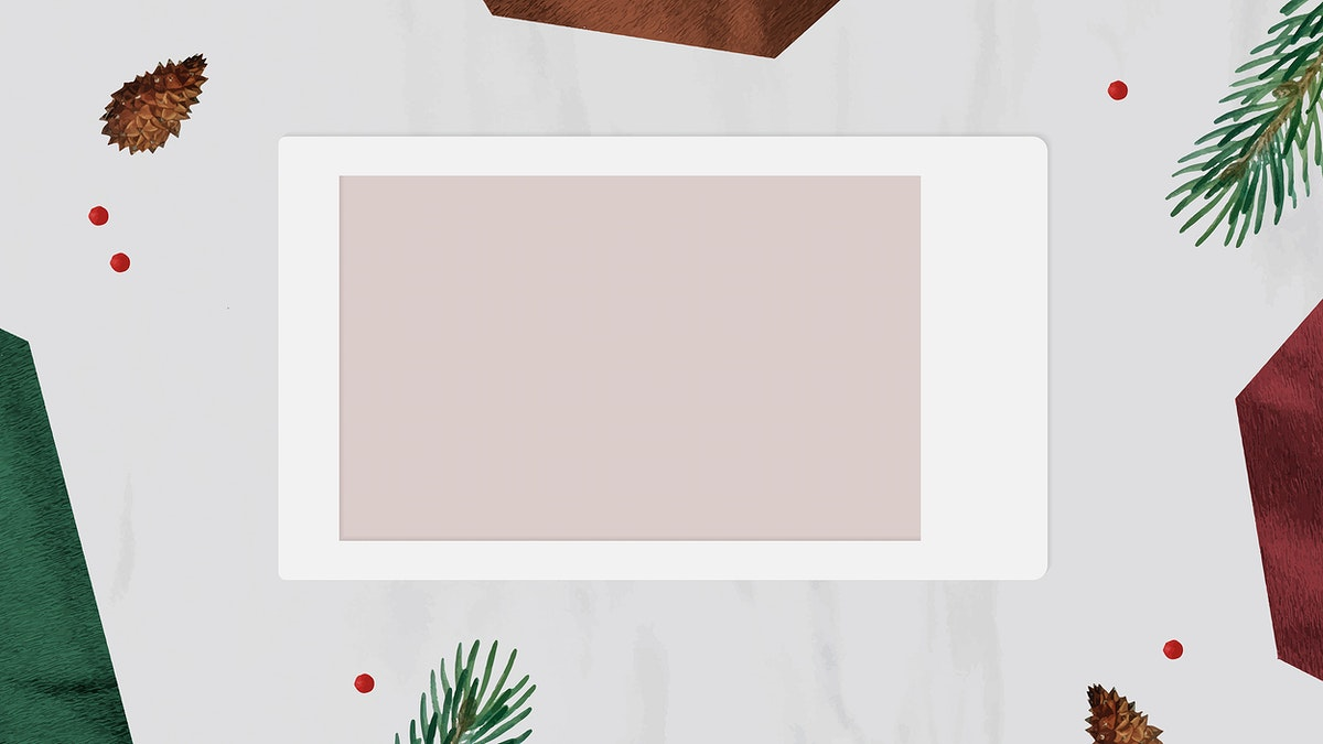 Christmas decorated blank instant photo frame vector
