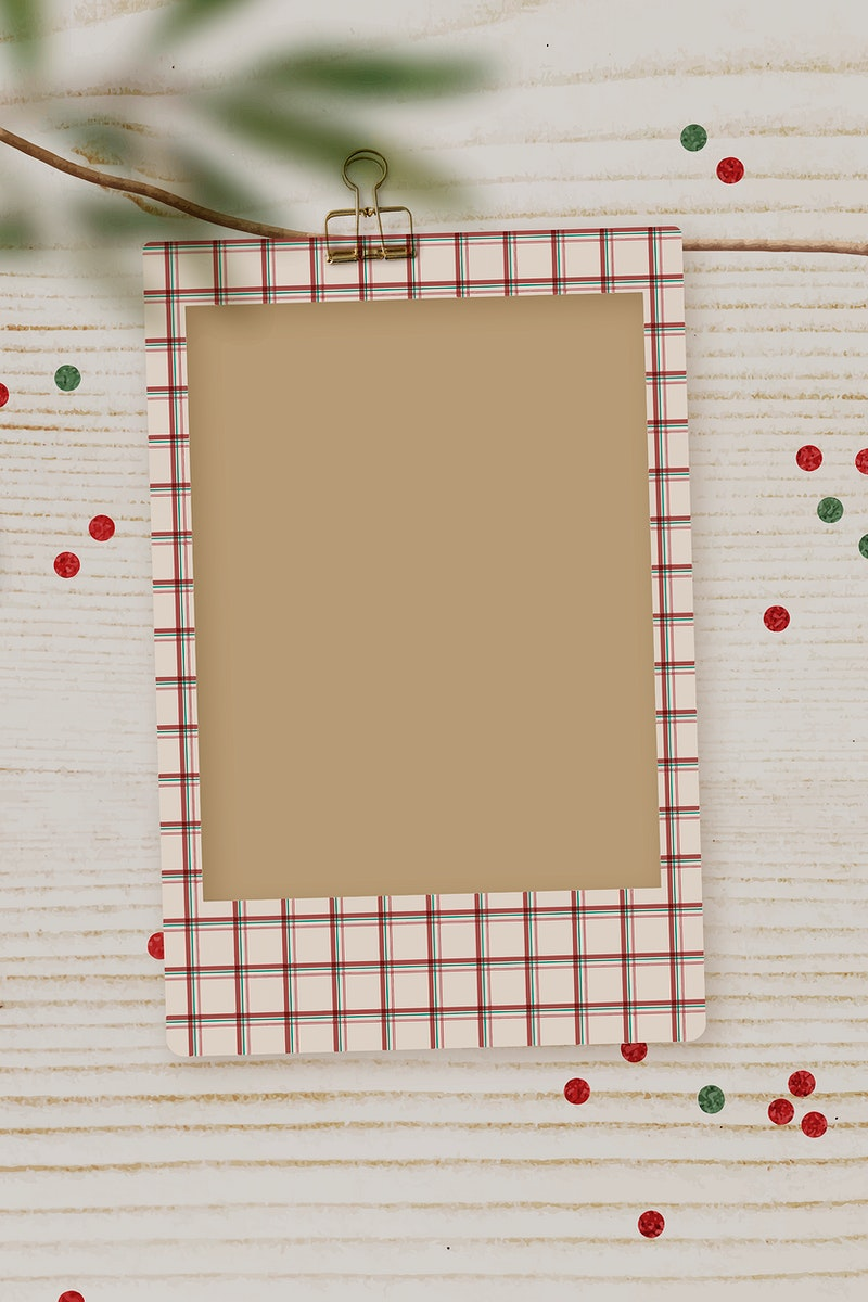 Diy Christmas and Holiday card on a wooden table vector