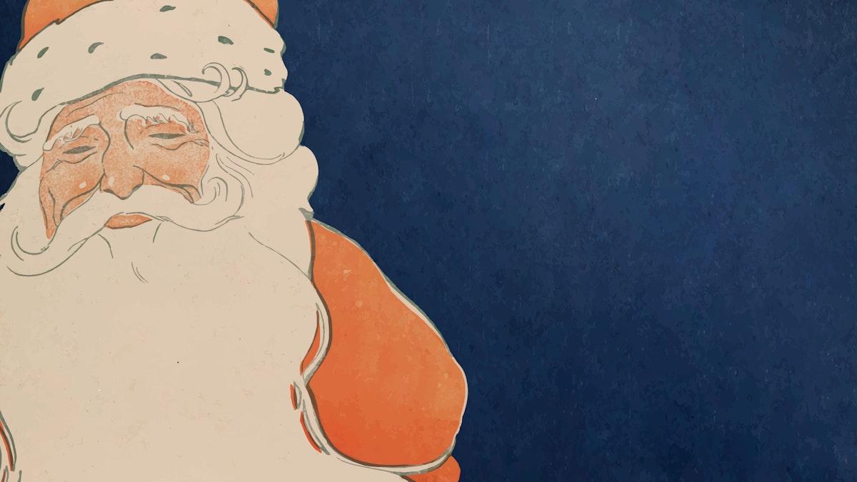 Vintage Santa Claus illustration (1901)