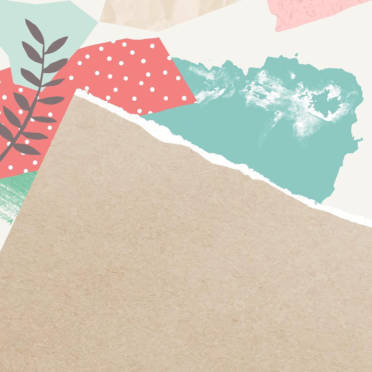 Vintage leaves background design vector