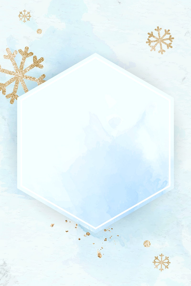 Snow flake frame background vector