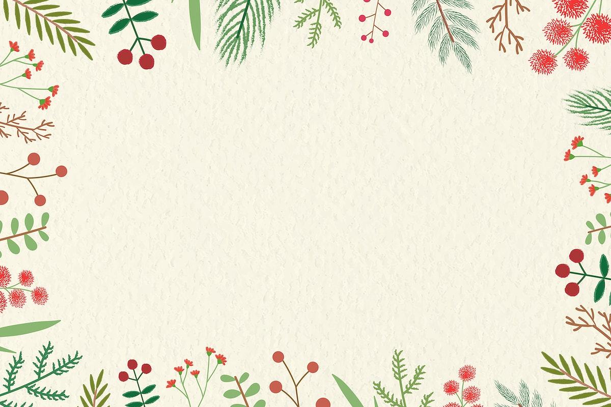 Christmas vintage frame design vector