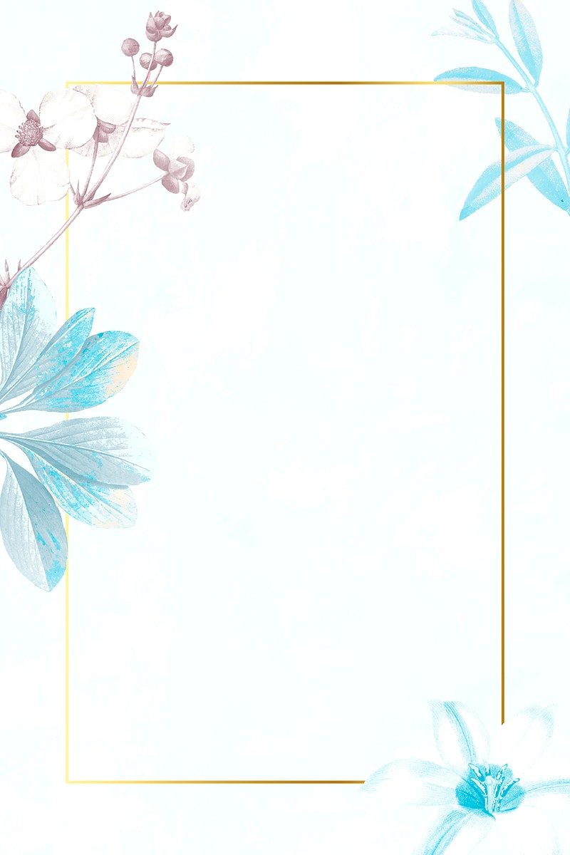 Golden rectangle with floral frame vector