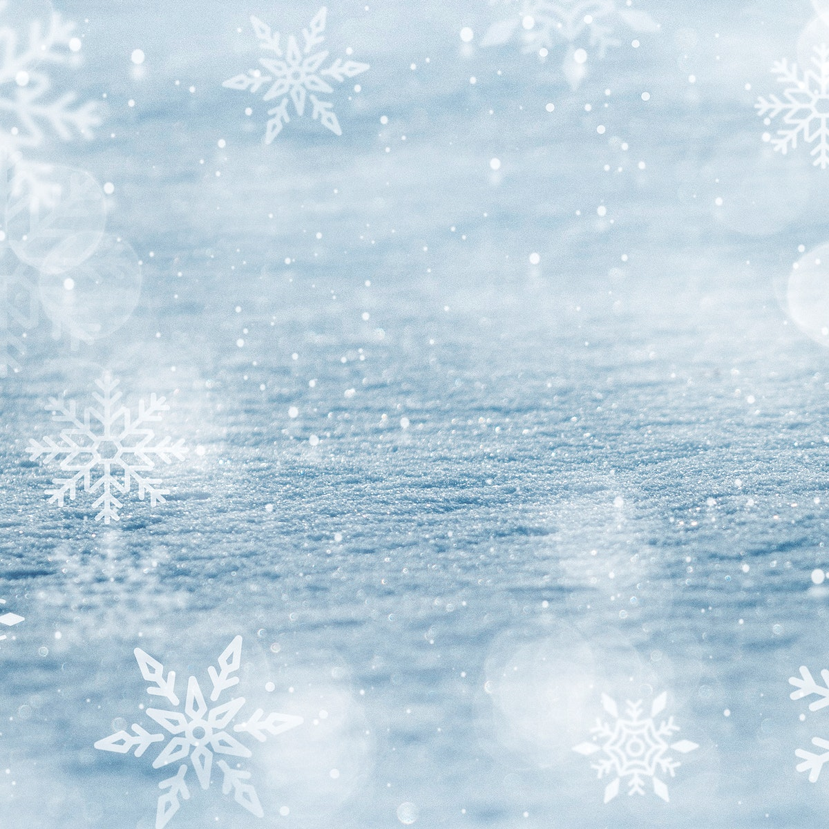 Snowflakes patterned on background