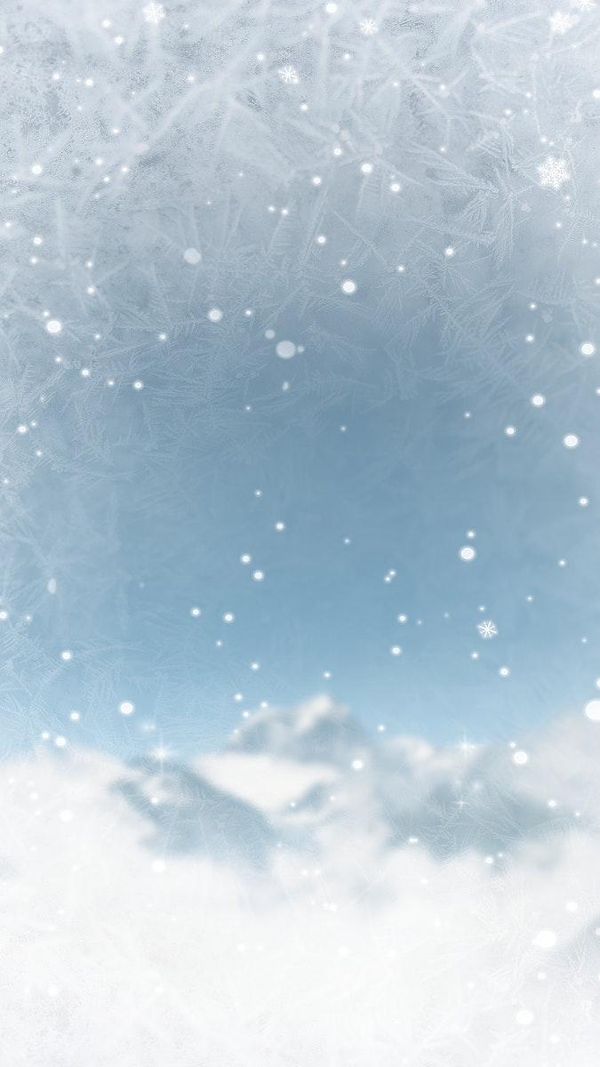 Snowy Rock Creek Park in USA mobile phone wallpaper