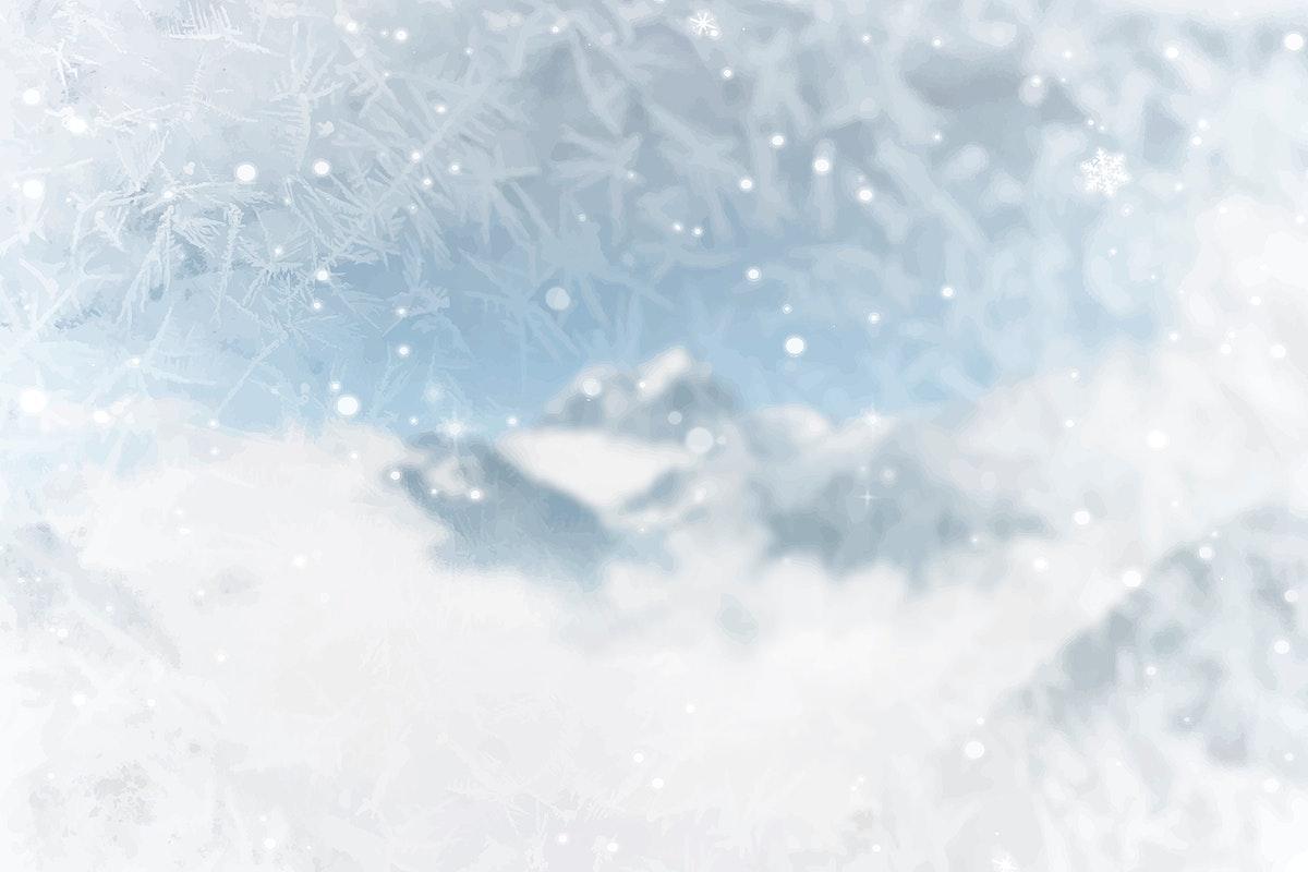 Snowy Rock Creek Park in Washington D.C., USA vector