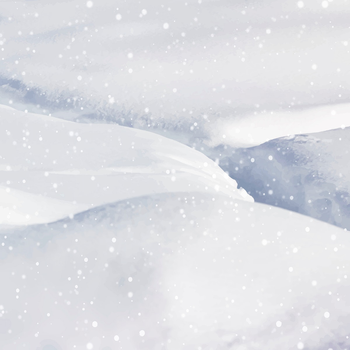 Closeup of snowy hills background vector