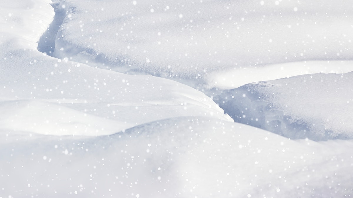 Closeup of snowy hills background