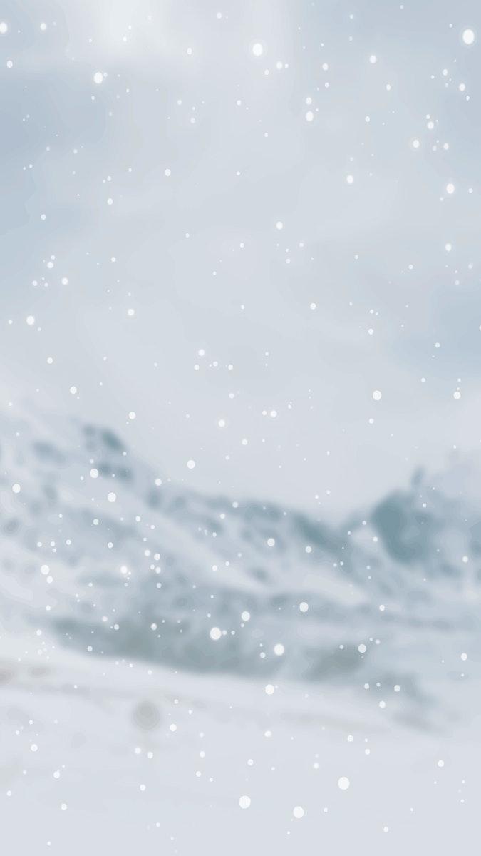 Snowy Rock Creek Park in USA mobile phone wallpaper vector