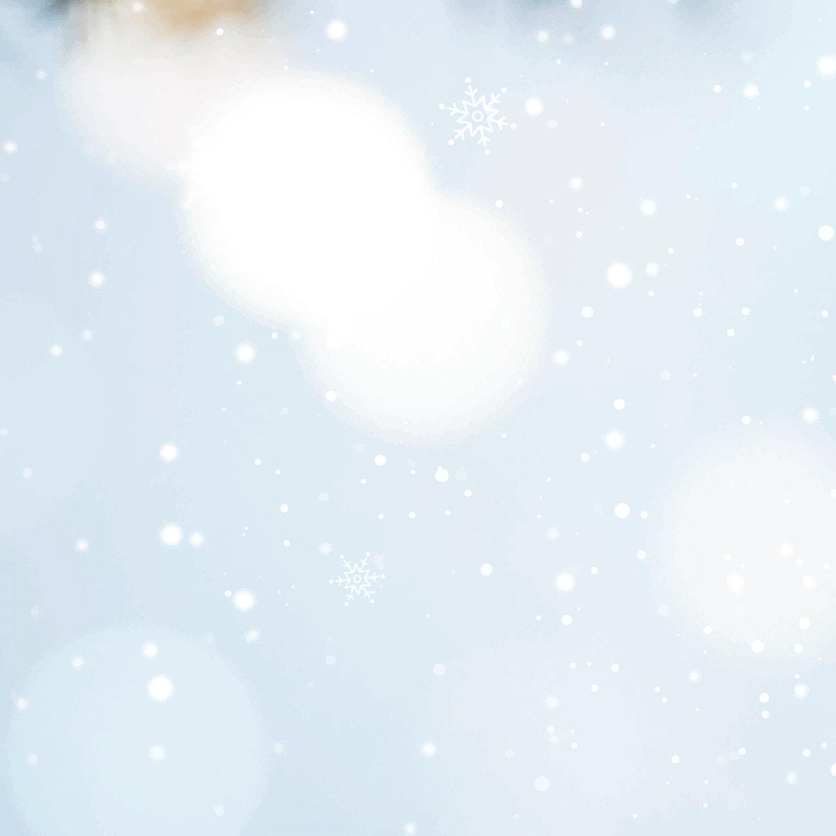 White bokeh pattern on a snowy day vector