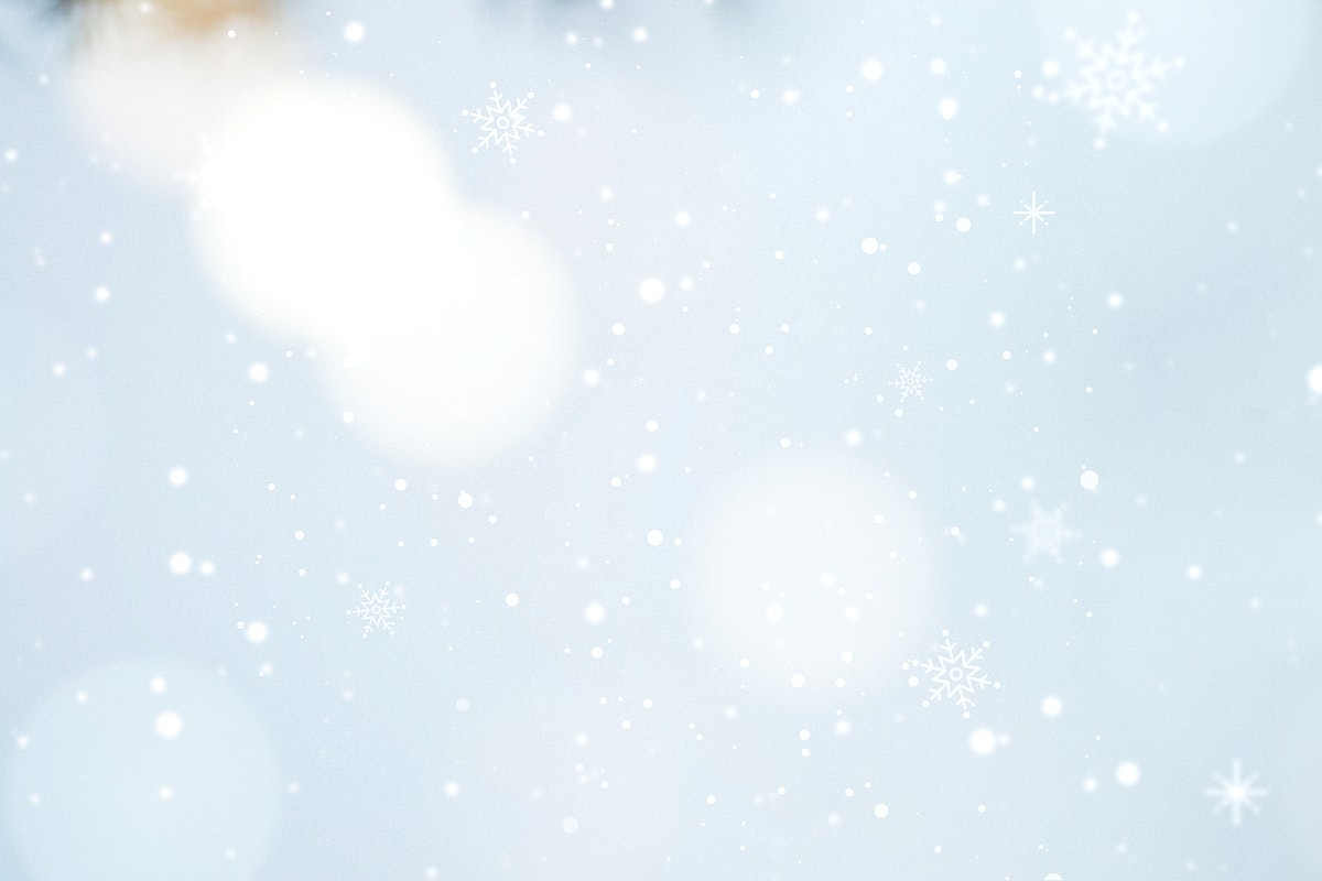 White bokeh pattern on a snowy day