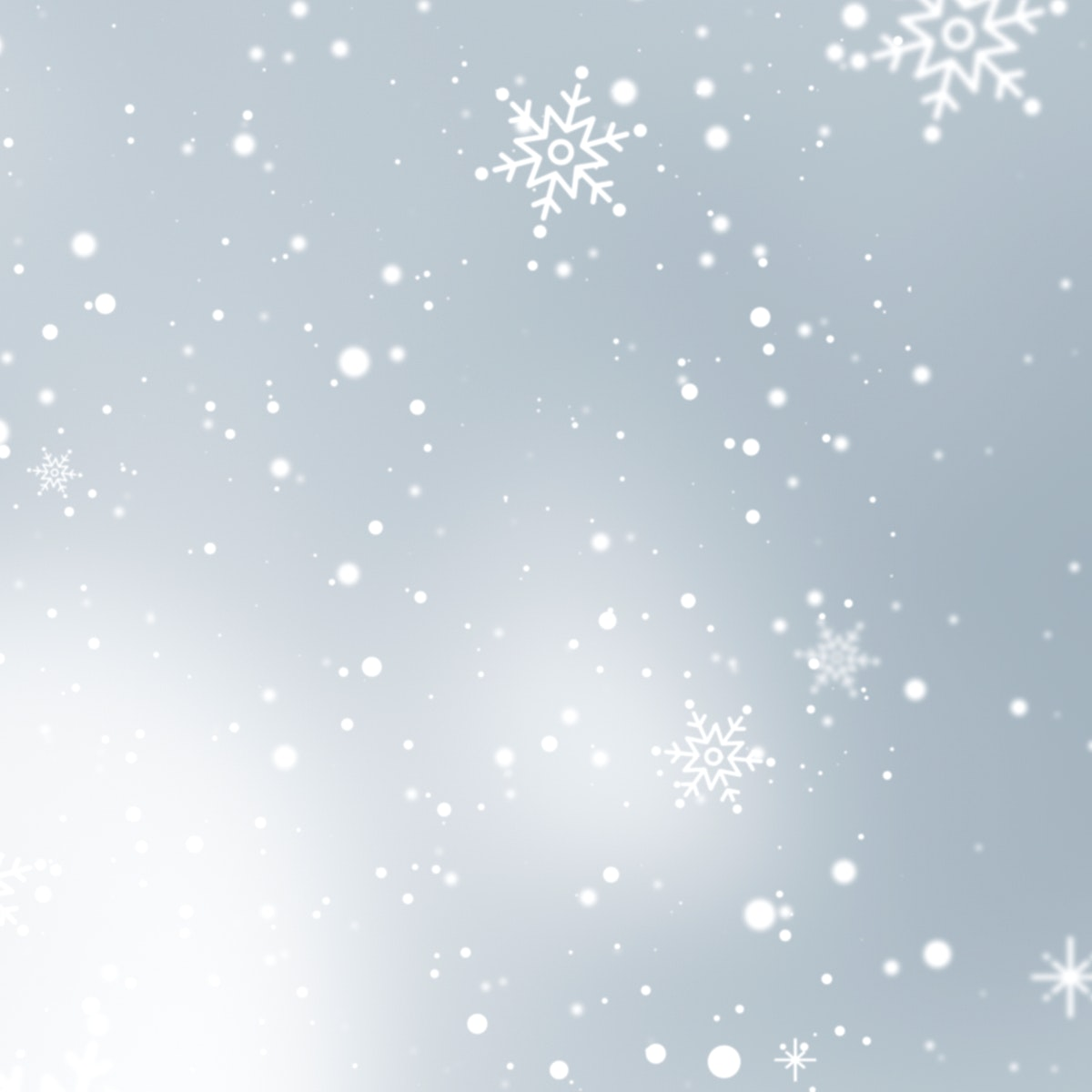 Snowflakes patterned on gray background