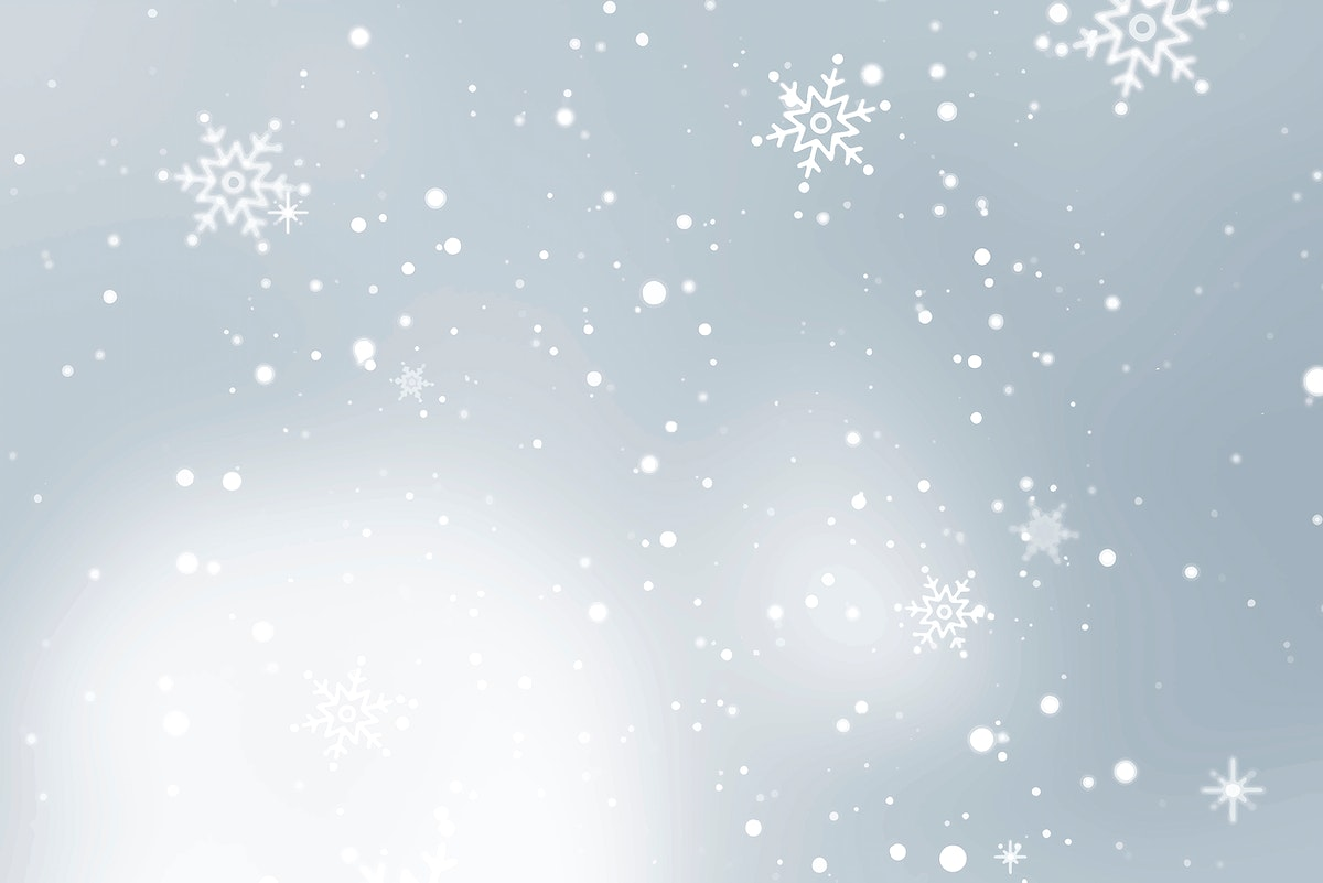 Snowflakes patterned on gray background illustration vector
