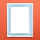 White photo frame mockup