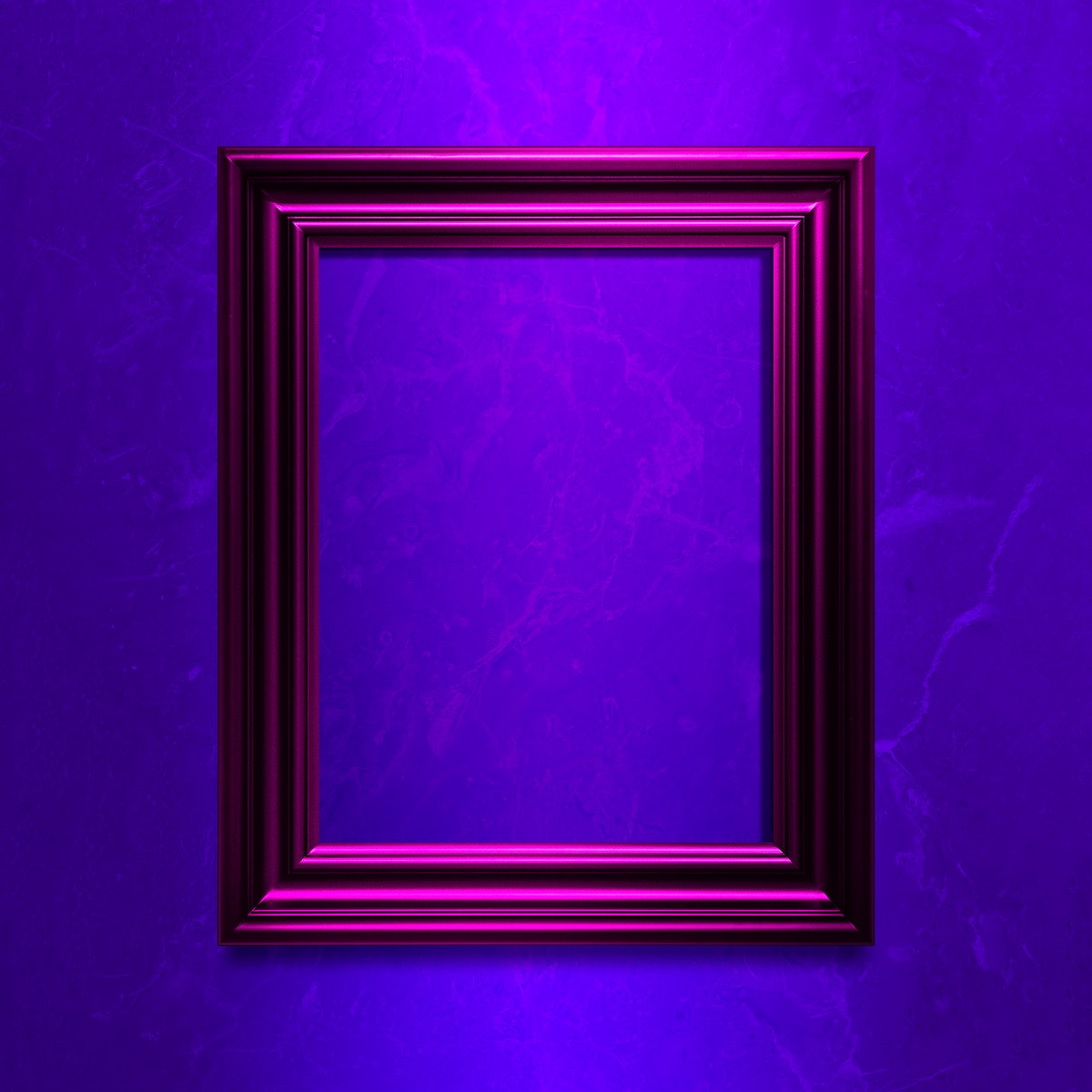 Pink photo frame mockup