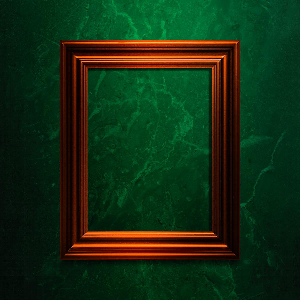 Copper photo frame mockup