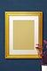 Blank gold photo frame
