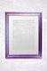 Purple photo frame mockup
