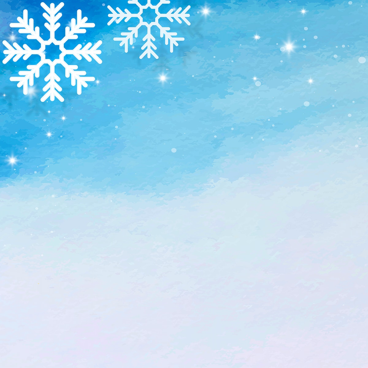 Snowflake pattern on blue background vector