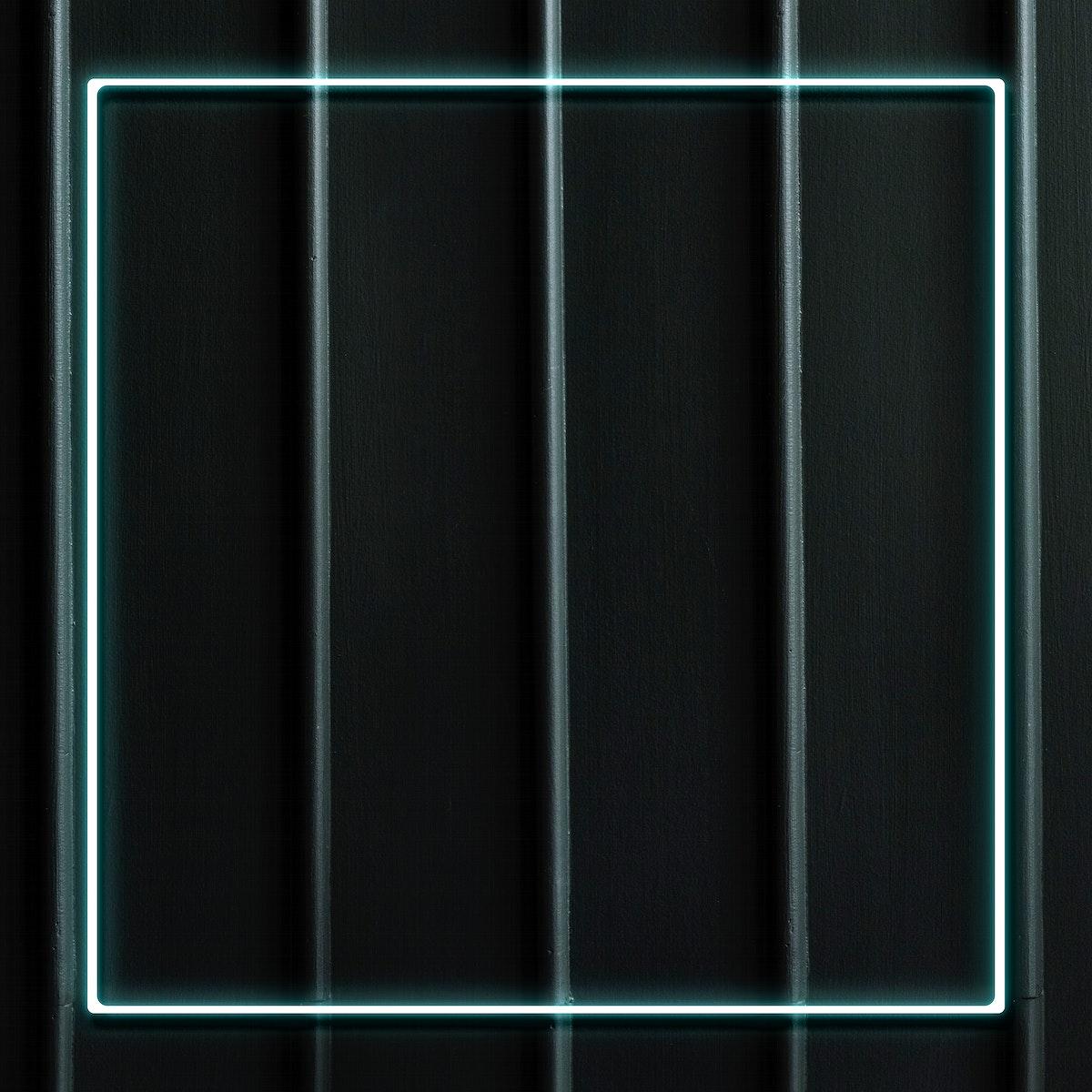 Blue neon frame social ads template illustration