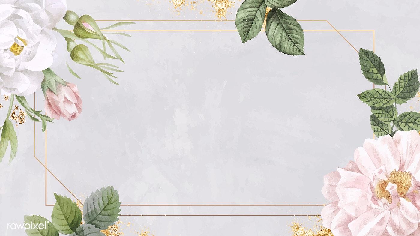 Pink Flower Frame Royalty Free Vector 2053628