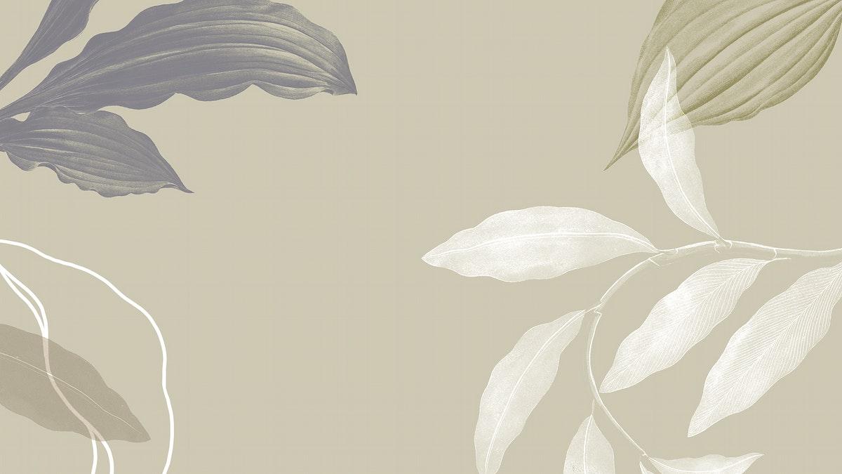 Tropical leafy background illustration