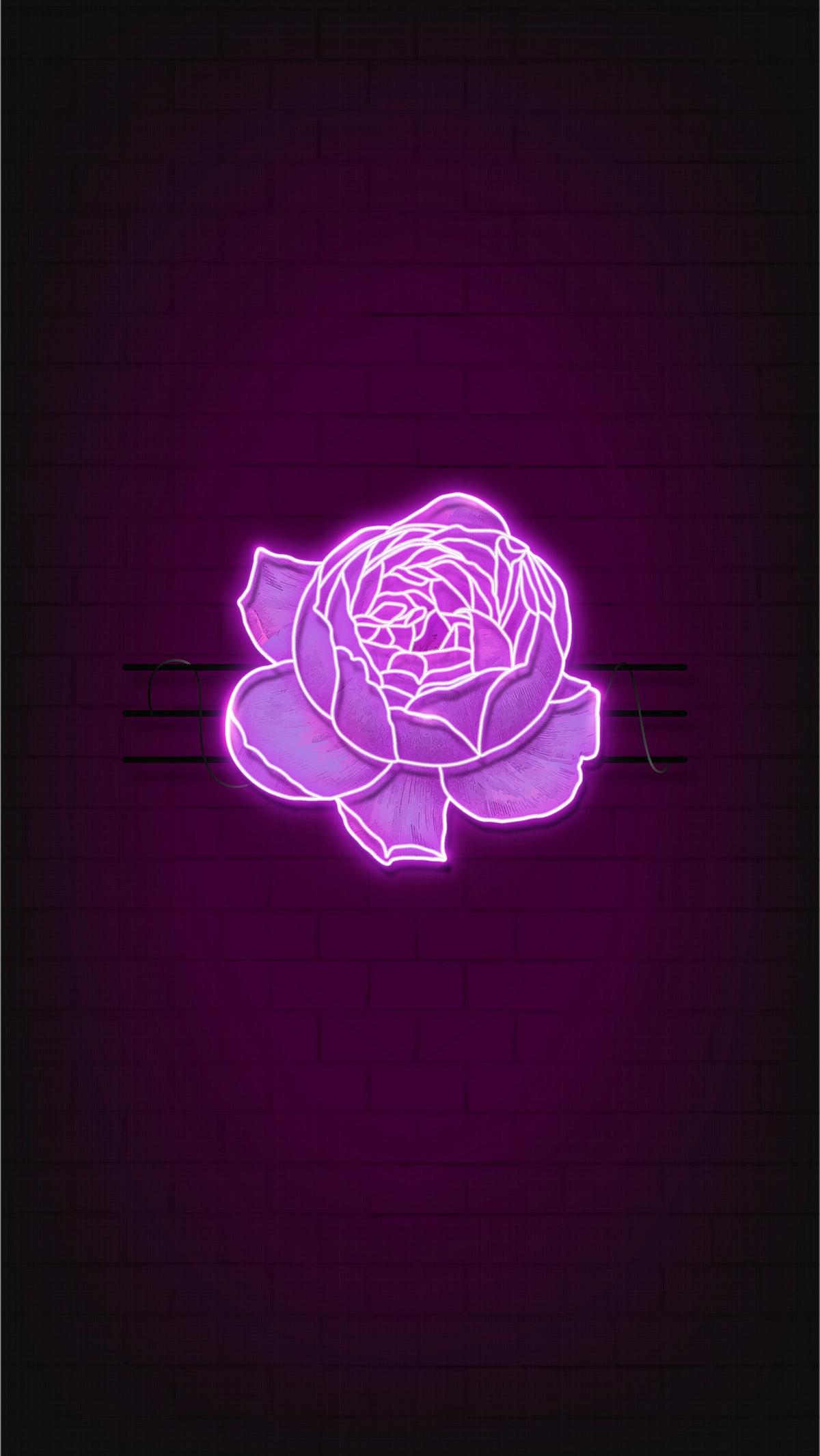 Purple Rose Mobile Wallpaper Royalty Free Vector 2102955