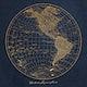Western Hemisphere map vintage illustration, remix from original artwork.