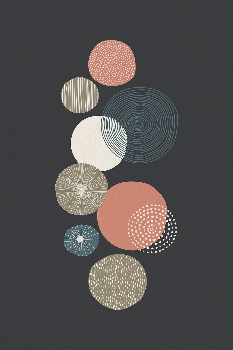 Round patterned wall art illustration