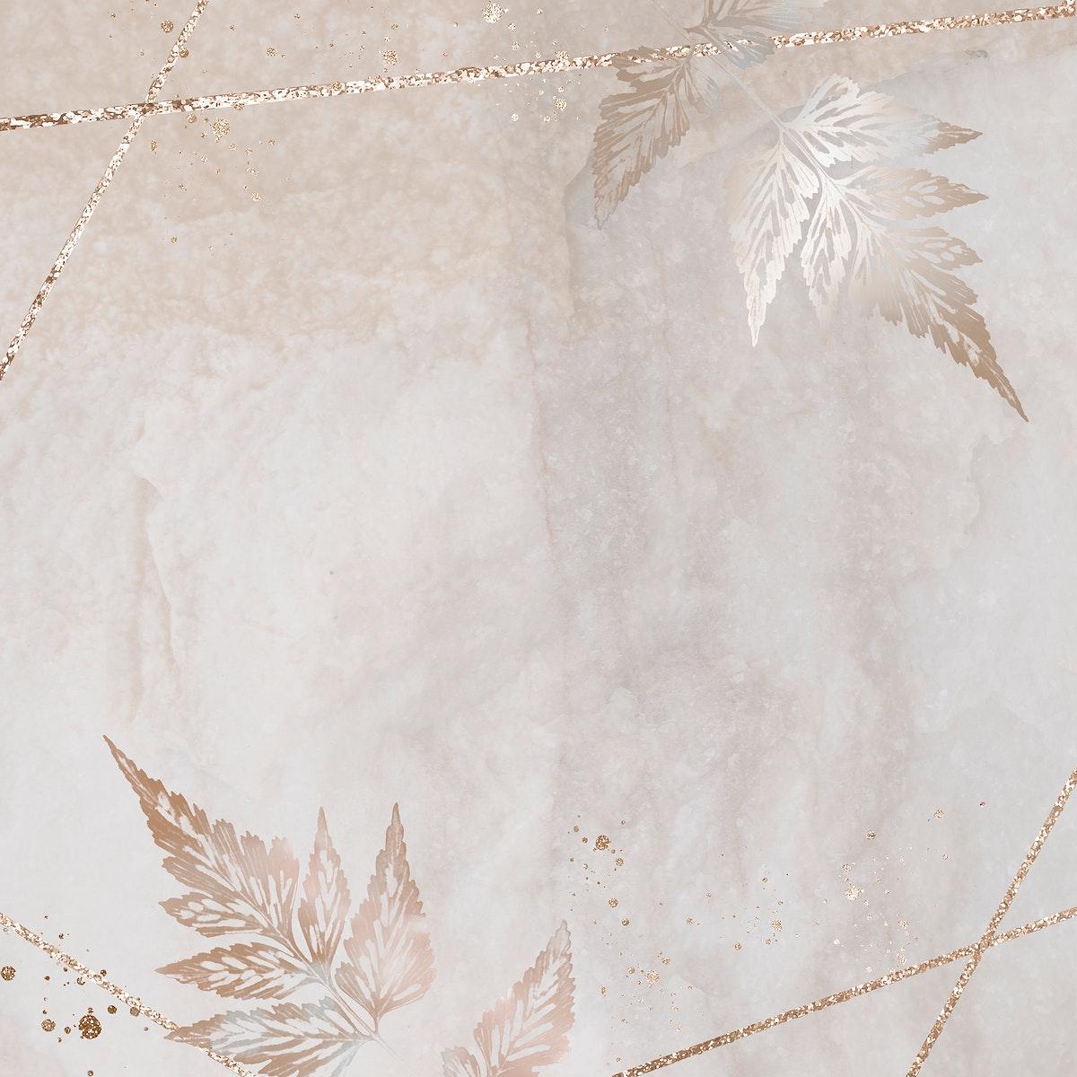 Glittery sickle spleenwort frame design resource