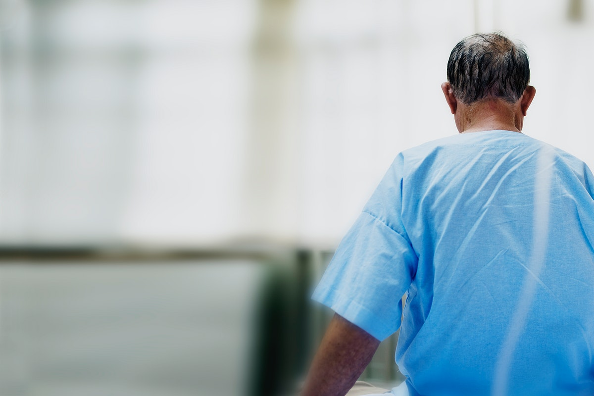 Elderly man in quarantine due to Coronavirus infection