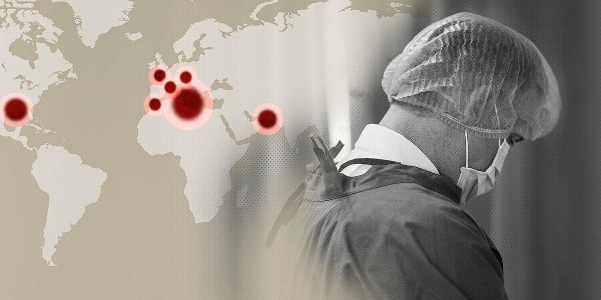 Medical hero working hard during the global coronavirus pandemic