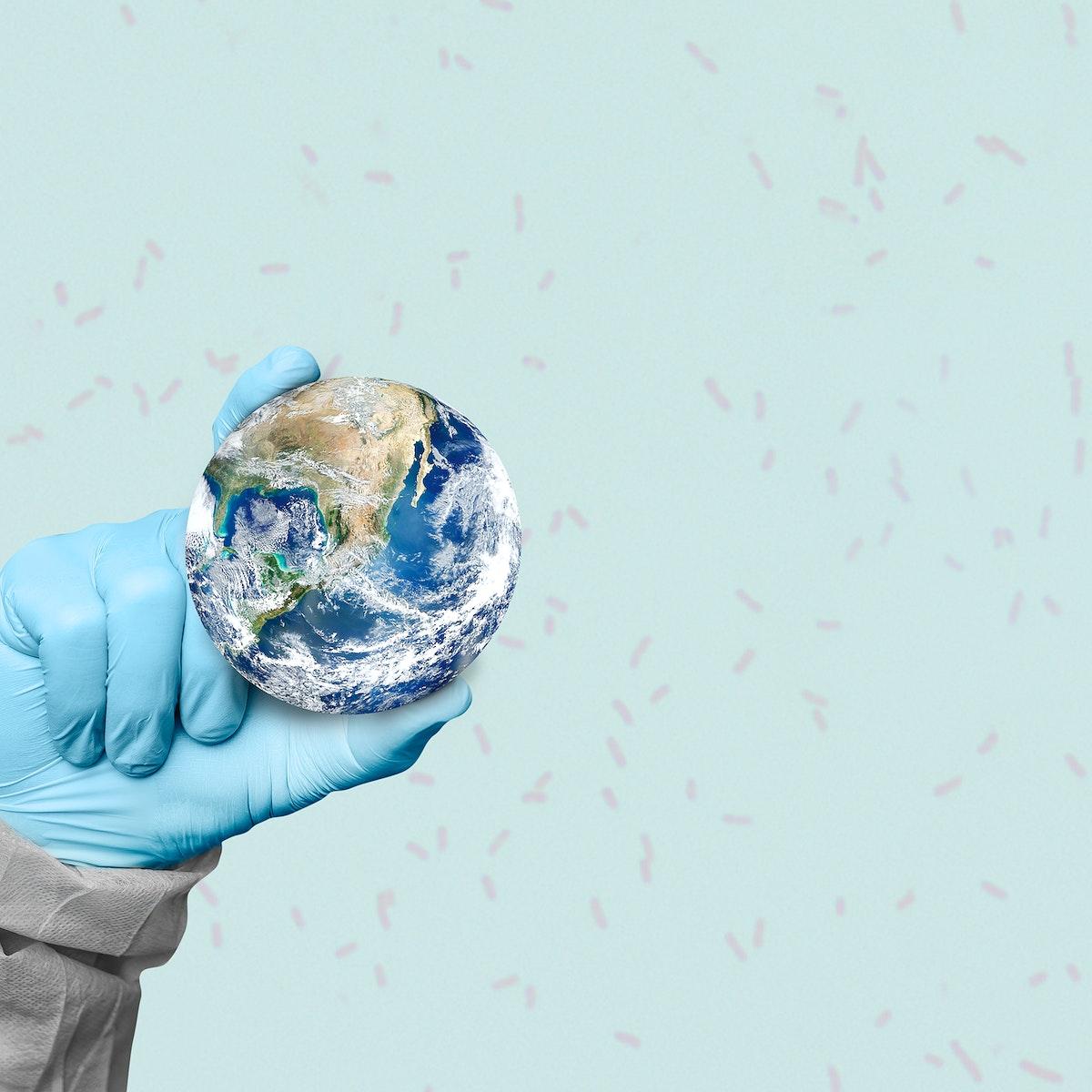 Doctors around the world saving coronavirus patients social banner