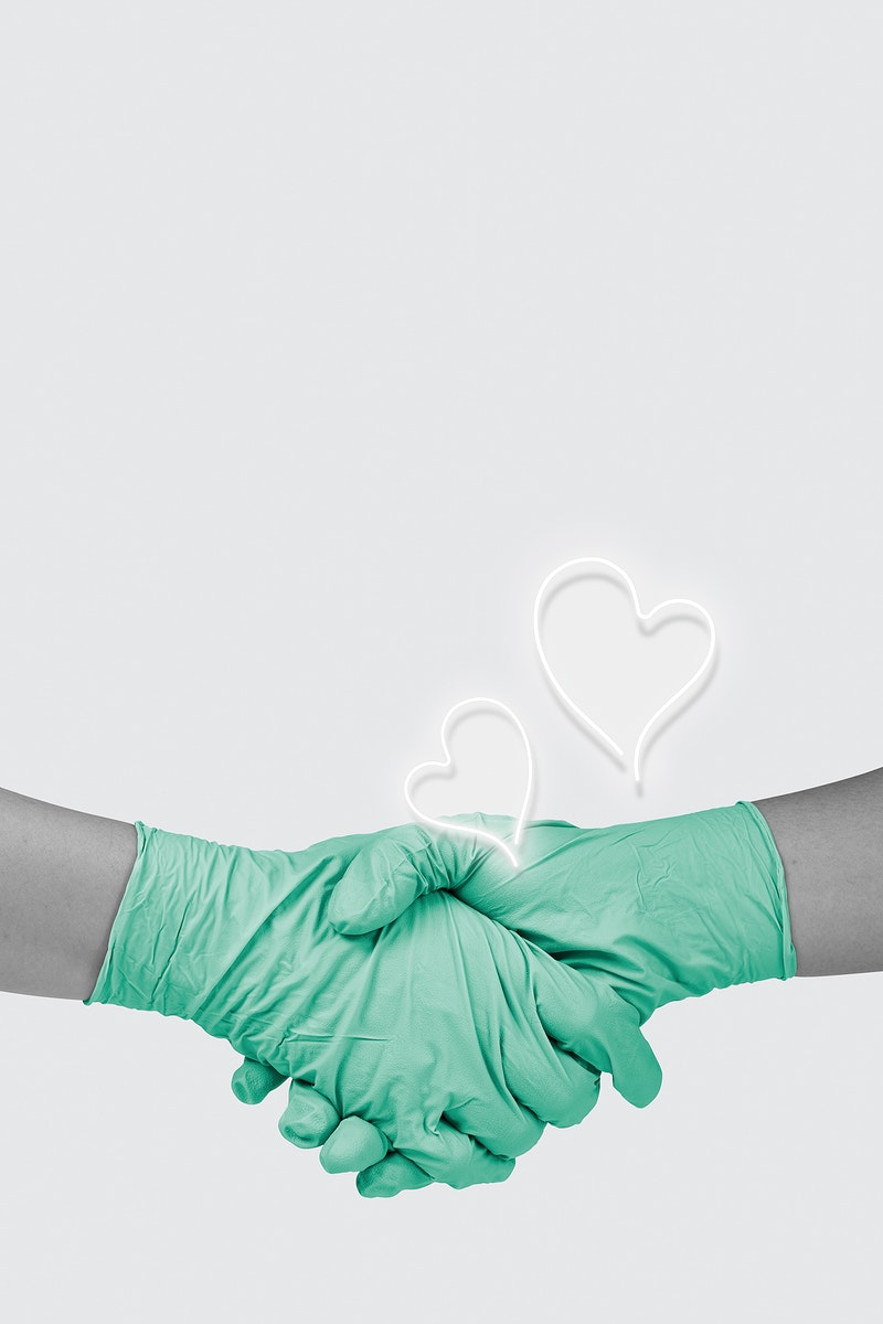 Medical staff shaking hands to thank the nurses