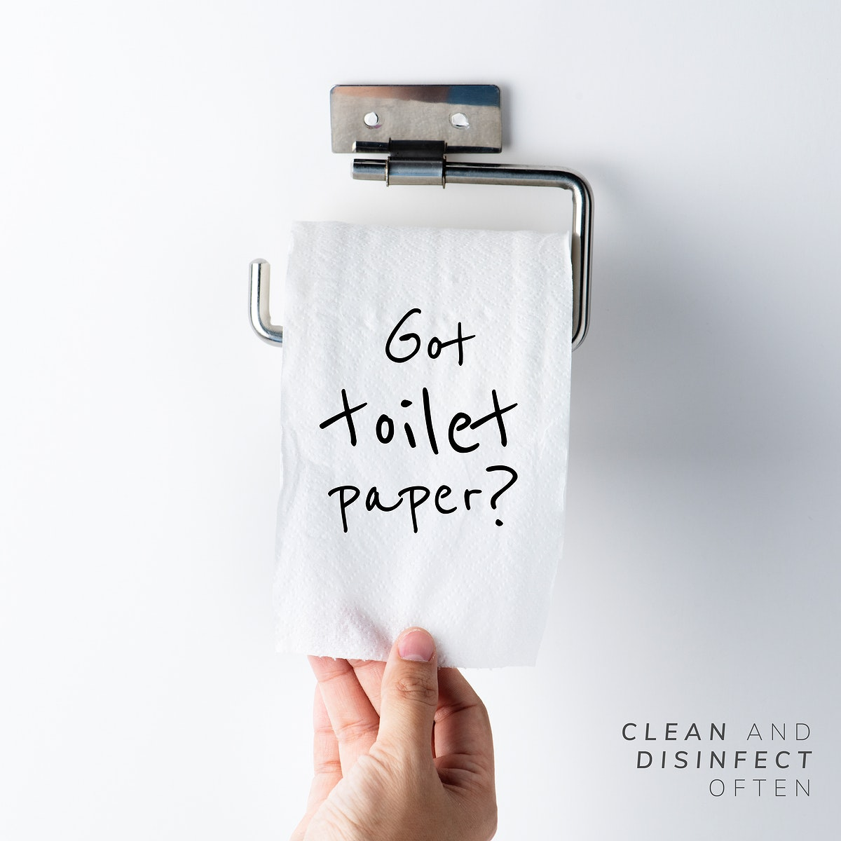 Got toilet paper? Clean and disinfect often during the global covid-19 pandemic vector