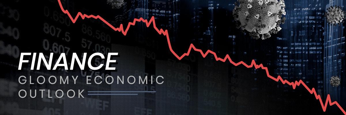 Gloomy economic outlook social template